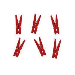 Červené svadobné štipce