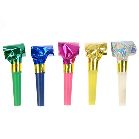 Ručné farebné píšťalky - mix farieb