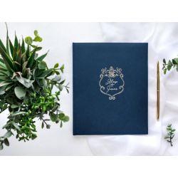 Svadobná kniha hostí s nápisom
