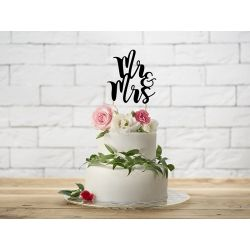 Nápis na tortu Mr & Mrs - Cake topper
