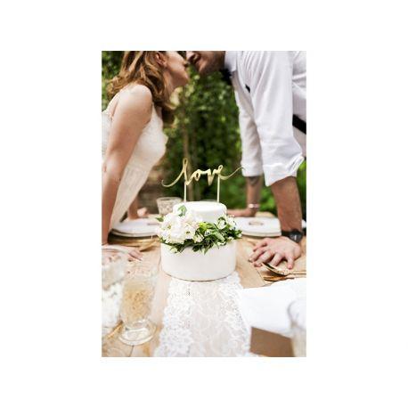Nápis na svadobnú tortu LOVE - Cake topper