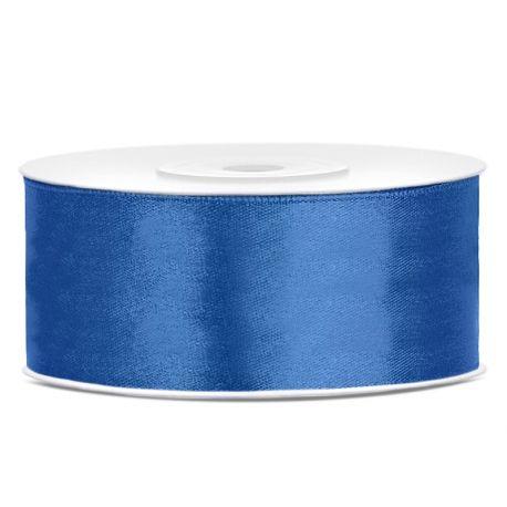 Modrá saténová stuha - 25mm/25m