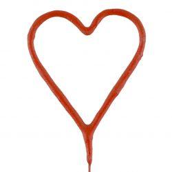 Červené prskavky v tvare srdca