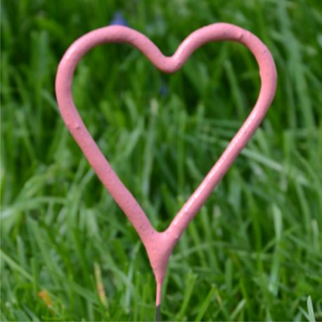 Prskavky ružové srdce