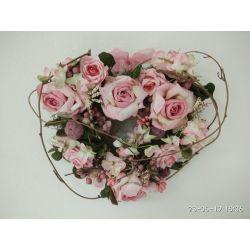 Ružové dekoračné srdce z ruží