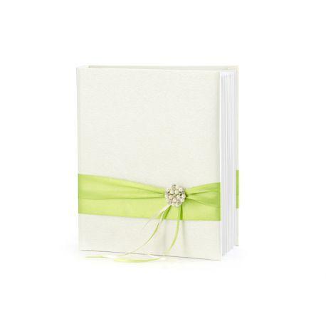 Svadobná kniha hostí so zelenou stuhou