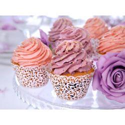 Biele košíčky na muffiny alebo cupcake