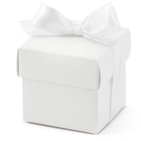 Krabička na darčeky pre hostí - biela farba