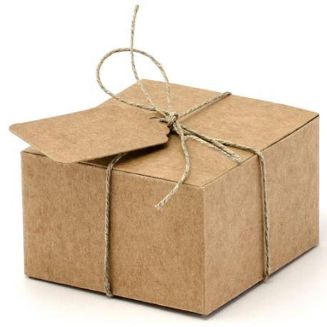 Krabička na darčeky pre hostí - prírodná
