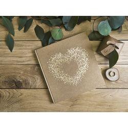 Svadobná kniha hostí so zlatým srdcom