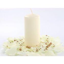 Krémová sviečka valec - matná 50/100