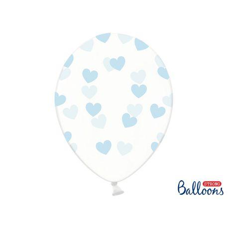 Modré srdiečka - biely balón