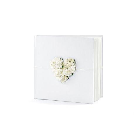 Svadobná kniha hostí s bielym srdcom