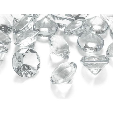 Biele diamanty 20mm