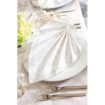Biele luxusné obrúsky Sarala 40x40cm