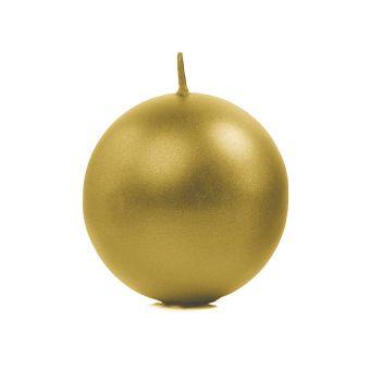 Sviečka guľa zlatá