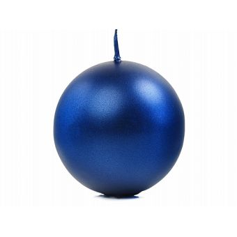 Modrá sviečka guľa metalická