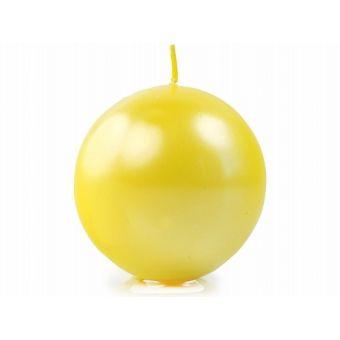 Žltá sviečka guľa metalická