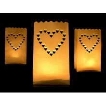 Svadobné lampióny - srdce
