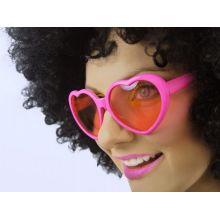 Ružové srdiečkové okuliare