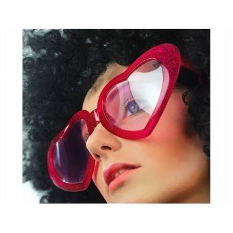 Srdiečkové okuliare červené