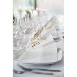 Luxusné obrúsky Lea biele 40x40cm