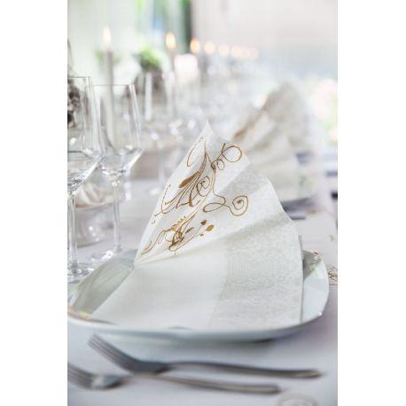 Biele luxusné obrúsky Festiva 40x40cm