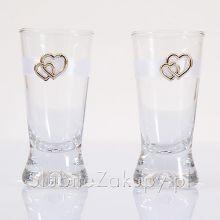 Svadobné poháriky - Zlaté srdcia
