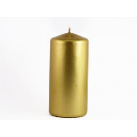 Zlatá sviečka valec perleťová 50/100
