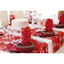 Červené luxusné obrúsky Romance 40x40cm