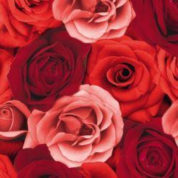 Červené luxusné obrúsky Romance 12ks
