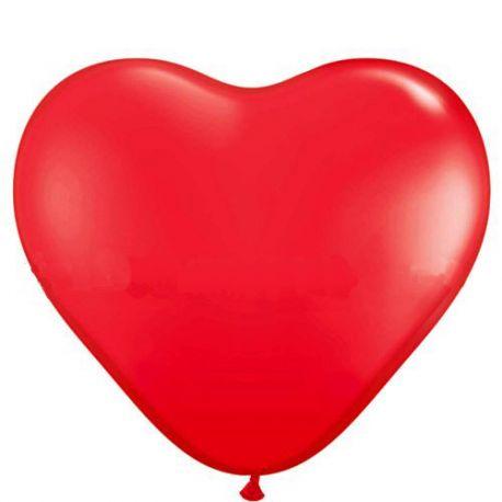 Červený balón veľké srdce
