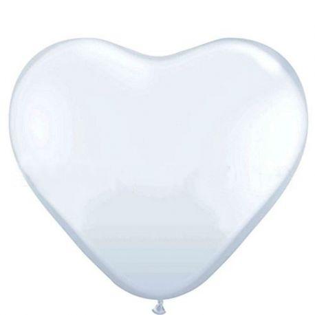 Biely balón veľké srdce