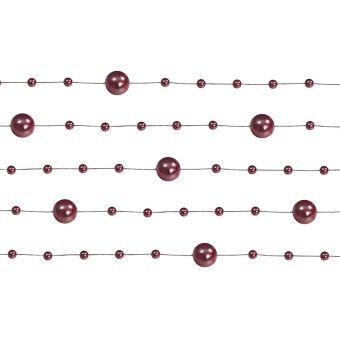 Girlanda perlová 1,3m bordová