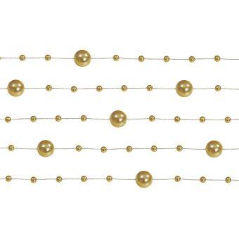 Girlanda perlová 1,3m zlatá