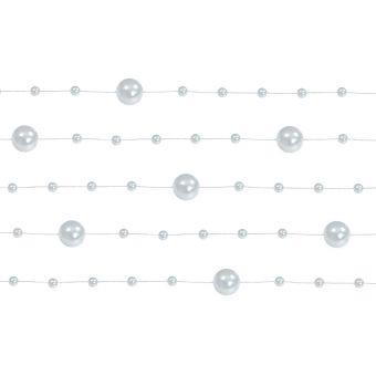 Strieborná perlová girlanda