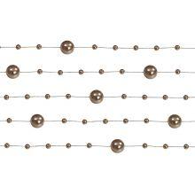 Girlanda perlová 1,3m capuccino