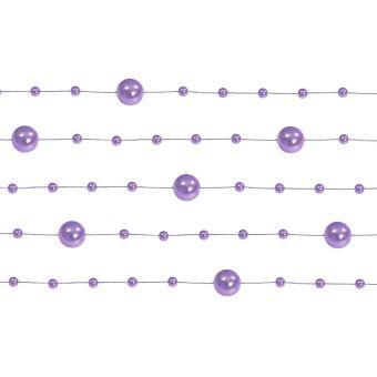 Girlanda perlová 1,3m fialová