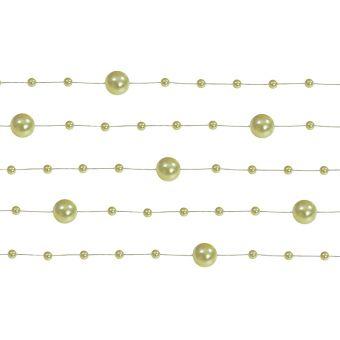 Girlanda perlová 1,3m olivová